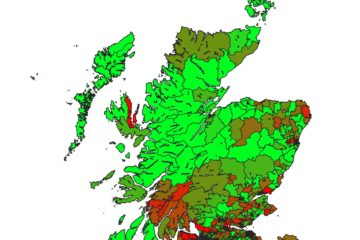 Covid-19 population adjusted deaths in Scotland